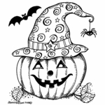 Jack O Lantern with Witch's Hat - M10466