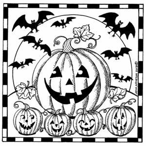 Jack O Lanterns and Bats - PP10472