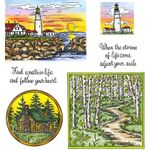Lighthouse & Walking Path Cling Mount Stamp Set