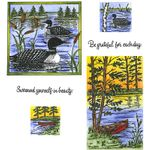 Loon, Canoe & Lake Cling Mount Stamp Set