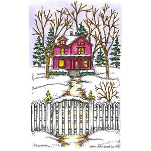 Majestic House and Fence - NN10702