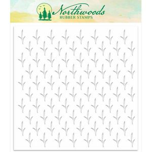 Northwoods Background Stencil: Cattail NORST-04