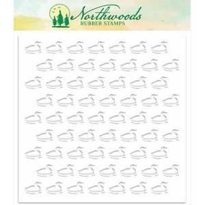 Northwoods Background Stencil: Loon NORST-03
