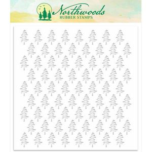 Northwoods Background Stencil: Pine NORST-05