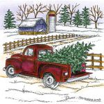 Old Fashioned Truck With Tree - PP10710