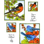 Oriole & Indigo Bunting Cling Mount Stamp Set