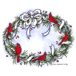 Oval Pine And Bow Wreath - P8283