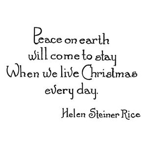 Peace On Earth Will Come To Stay - E10691