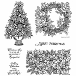 Rose Wreath, Rose, and Mum Cling Mount Stamp Set