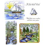 Sailboat & Stream Cling Mount Stamp Set