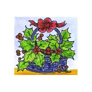 Small Holly Basket - C10672