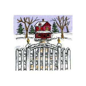 Small Majestic House and Fence - C10704