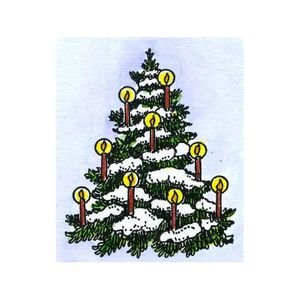 Small Snowy Candle Tree - C10686