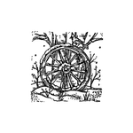 Small Wagon Wheel with Cardinals and Tree C10533