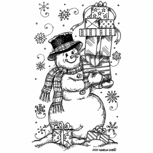 Snowman With Stacking Presents - NN10522