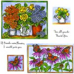 Spring Pots In Frame Cling Mount Stamp Set