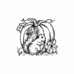Squirrel and Pumpkin - C10484