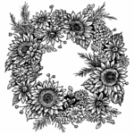 Sunflower and Mum Wreath - PP10483