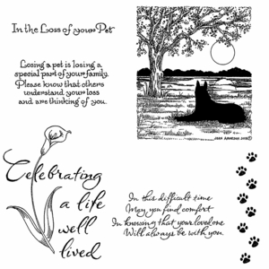 Sympathy Cling Mount Stamp Set