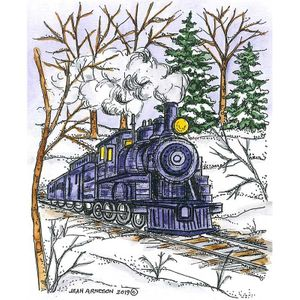 Train in Spruce and Birch Forest - M10721
