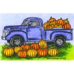 Truck and Pumpkins - NN10560