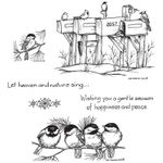 Winter Mailboxes and Chickadees Cling Mount Stamp Set