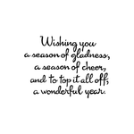 Wishing You A Season of Gladness CC10535