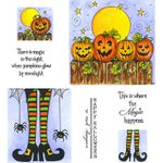 Witch Legs & Jacks on Fence Cling Mount Stamp Set