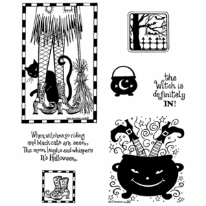 Witch's Legs Cling Mount Stamp Set