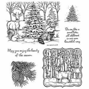 Woodland Friends Cling Mount Stamp Set