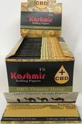 Kashmir 1 1/4 Natural Hemp Rolling Papers +CBD