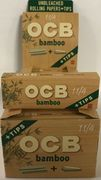 """OCB Bamboo 1 1/4"""" Rolling papers PLUS tips (50 leaves and tips)"""