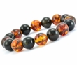 Amber Bracelet with Black and Cognac Baltic Amber