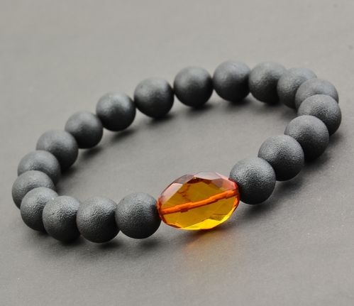 Amber Bracelet Made of Matte Baltic Amber