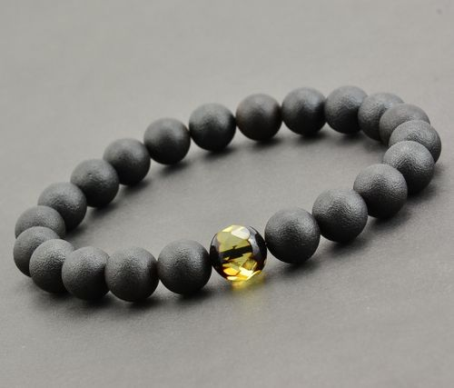 Amber Bracelet Made of Healing Matte Baltic Amber