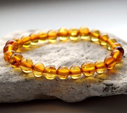 Amber Healing Bracelet Made of Honey Baltic Amber