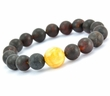 Amber Bracelet with Matte and Polished Baltic Amber