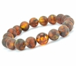 Amber Bracelet with Matte & Polished Baltic Amber