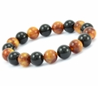 Amber Bracelet Made of Amazing Black and Marble Baltic Amber