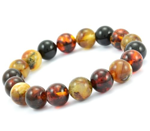 Amber Bracelet with Multicolor Baltic Amber