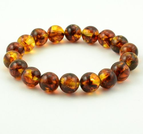 Amber Bracelet Made of Cognac Amazing Baltic Amber