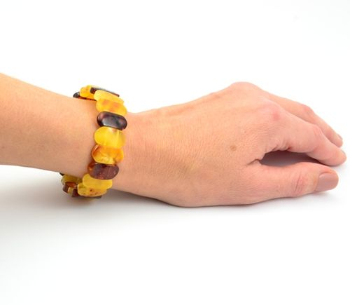 Amber Bracelet with Multicolor Healing Baltic Amber
