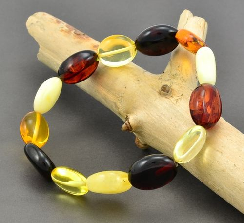 Amber Bracelet Made of Healing Baltic Amber