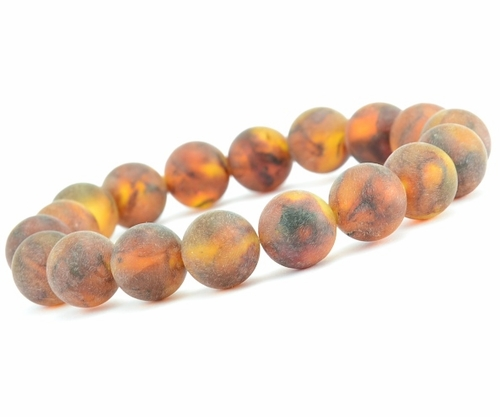 Amber Bracelet with Matte Cognac Baltic Amber