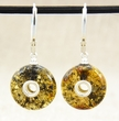 Amber Earrings with Greenish Baltic Amber