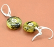 Amber Earrings Made of Greenish Baltic Amber