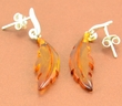 Amber Earrings with Cognac Baltic Amber