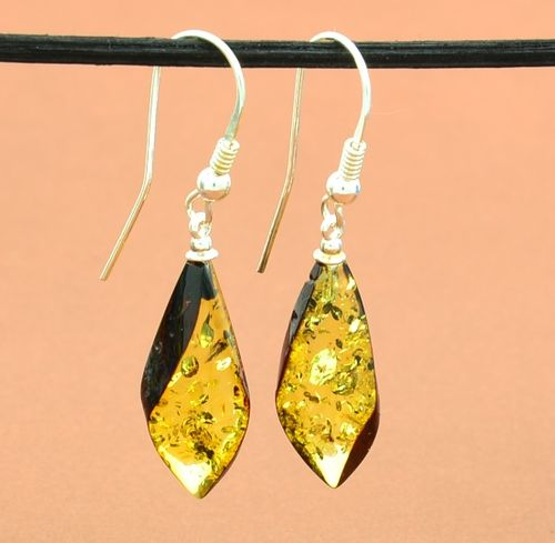 Amber Earrings with Baltic Amber