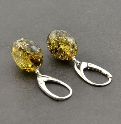 Amber Earrings Handmade of Amazing Baltic Amber