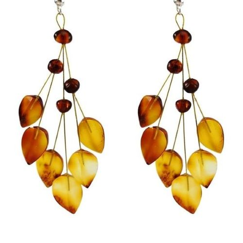 Amber Earrings Made of Amazing Baltic Amber